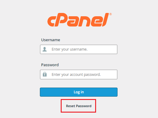 Cara Reset Password di cPanel